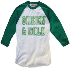 You don't have to be a play professional sports to represent your country, now you can wear your Green & Gold every day. With distressed print and super soft drapy fabric you can wear this trendy vint. Vintage Green, Vintage Style, Gifts For Sports Fans, Leather Duffle Bag, Man Child, Gold Print, Green And Gold, Gifts For Him, Vintage Inspired