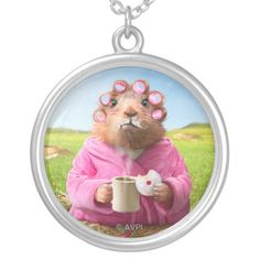 Avanti Press - Morning Groundhog with Breakfast Donut and Coffee. Regalo, gift. #pendant #colgante