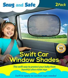 Car Sun Shade (2 Pack) - Black Sunshade Visor Set for Babies & Kids - Clings To a Rear Side Window And Covers Your Baby Or Toddler - Shades Block 98% Of UV Heat Rays Glare In Cars - LIFETIME WARRANTY Snug And Safe http://smile.amazon.com/dp/B017M9HJLY/ref=cm_sw_r_pi_dp_BKjFwb0MH62CN
