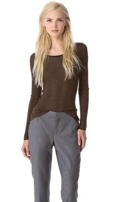 M. PATMOS Rib Striped Sweater