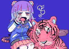 とらとらヤンキー Art And Illustration, Illustrations, Character Illustration, Anime Kunst, Anime Art, Vaporwave, Art Sketches, Art Drawings, Cute Kawaii Girl