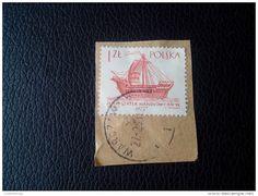 RARE 1966 1 ZL POLSKA HOLK STATEK HANDLOWY XIV SHIP RECOMMENDET LETTRE ON PAPER COVER USED SEAL - 1944-.... Republic