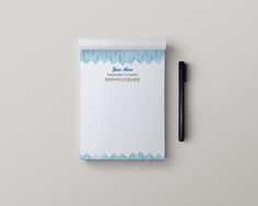 Stationery Note Pads - R+F watercolor