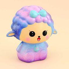 Jumbo Galaxy Sheep Squishy Silly Squishies, Slime And Squishy, Bratz, Maya, Ghost Cat, Cute Stationary, Cute Sheep, Unicorn Cat, Kawaii Shop