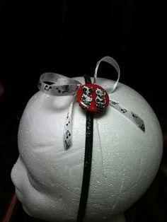 New handmade ribbon wrapped headband, Hello Kitty as KISS on Etsy, $6.00