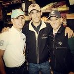 Irad Ortiz, John Velazquez and Javier Castellano work the Dunkin Donuts drive-thru at Saratoga, getting donations for the Permanantly Disabled Jockeys Fund.