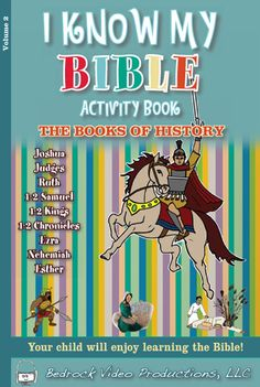 12.  The Activity Book pages are sent to the printer, along with a cover design. The final product, an activity book the size of the DVD, can be bought from the Etsy store, www.showandtellbible.com, at Amazon, or in any book store. Parents use them for home study, and small Bible classes use them as workbooks.