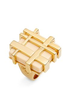 Tory Burch Gingham Cocktail Ring