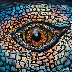 'Lizards Eye' by Cathy Gilday Les Reptiles, Reptiles And Amphibians, Lizard Eye, Tattoos Motive, Reptile Eye, Animal Close Up, Eye Close Up, Wild Eyes, Eye Pictures