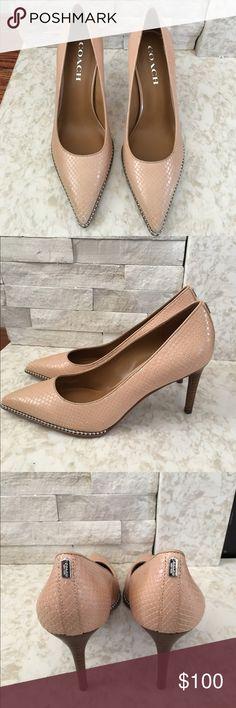 Coach SMITH beachchain heel Never worn pumps. 3 1/2 inch Heel. Box not included. Coach Shoes Heels