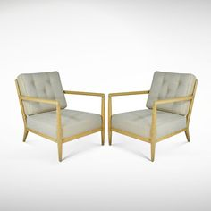 T.H. Robsjohn-Gibbings for Widdicomb Lounge Chairs | From a unique collection of antique and modern lounge chairs at http://www.1stdibs.com/furniture/seating/lounge-chairs/