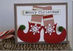 Elf shoes Christmas card