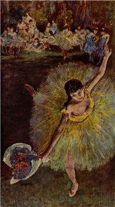 Dancer with a Bouquet, Edgar Degas, tido como um dos principais representantes do Impressionismo.