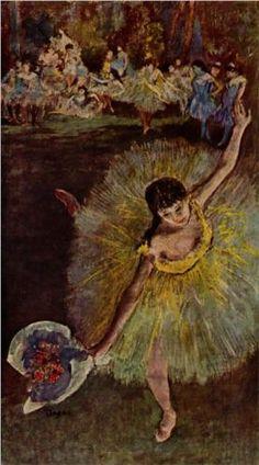 Dancer with a Bouquet, Edgar Degas