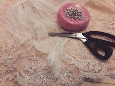 HELLO CUSTOM   Beaded lace silk organza champagne raw silk aaannnnnddd feathers!!! #cicadabridal #cicadabridalfamily #yourdressmadehere #seattlebrides #seattlebride #seattle #pnwbride #pnw #customweddingdress #custom #customgown #beadedlace #lace #champagne #champagnerawsilk #rawsilk #silk #silkorganza #feathers #production
