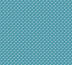 Narwhal Pattern - Blue fabric by papersparrow on Spoonflower - custom fabric