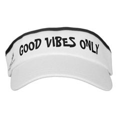 GOOD VIBES ONLY sports sun visor cap | custom hat