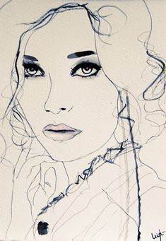 Leigh Viner paints, draws, photographs and does make-up. Her versatile skills definitely define her gorgeous fashion illustration style.