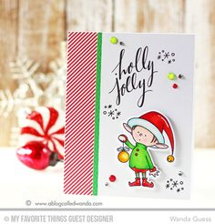 Santa's Elves, Hand Lettered Holidays, Santa's Elves Die-namics - Wanda Guess  #mftstamps