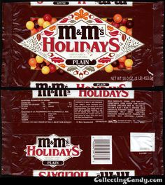 Mars - M&M's Holiday Plain chocolate candies in autumn colors - candy package - late early Retro Candy, Vintage Candy, M&ms Halloween, Peanut Candy, M M Candy, Chocolate Candies, All Beer, Vintage Packaging, Candy Bouquet