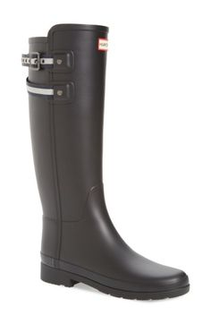 Free shipping and returns on Hunter Original Refined Matte Rain Boot (Women) at Nordstrom.com. Your favorite Hunter rain boot gets a sleek update in thinner, more flexible rubber with a striped buckle strap at the topline and a tailored, slimmer silhouette. The curve of the toe has been pared down to be less prominent and the sole has been molded for a more classic appearance.