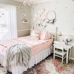 Isn't this room a girls dream? This shade of pink is perfect in every way! The b… Isn't this room a girls dream? This shade of pink is perfect in every way! The b…,Zuhause. Cute Girls Bedrooms, Little Girl Rooms, Kids Bedroom, Master Bedroom, Rustic Girls Bedroom, Toddler Girl Rooms, Kids Rooms, Gold Bedroom, Bedroom Small