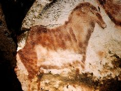 """Lascaux. 17,300 years old.  Ralph Morse. Time & Life Pictures/Getty Images """"I was amazed at how the colors held up after thousands and thousands of years -- like they were just painted the day before! Most people don't realize how huge some of the paintings are. There are pictures of animals there that are 10-15 ft long, and more. [The horse is] the first example anywhere of drawing in modern perspective. Regard the turn of the head, placing of ears, and shading to suggest three dimensions."""""""