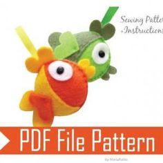 DIY Felt Fish - PDF Sewing ..