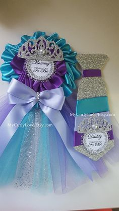 *Princess Ballerina (tutu) Mommy to be Corsage 4 top part 7 long 1.5 back pin included ready to use *Tie 6 1/2 long 2 1/2 wide 1.5 back pin included ready to use Custom Orders are Welcome! All sales are final. No refunds, No exchanges. Shipping: * This item is going to be shipped by