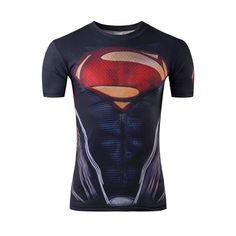 New Marvel Fitness Super Heroes T-Shirt Superman