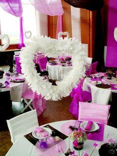 Couronne de Coeur de Plumes Blanc Blog de mariage http://yesidomariage.com