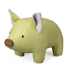 boekensteun Zuny varken Piggy khaki