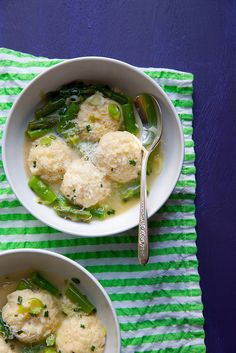 Ricotta Dumplings with Green Garlic and Asparagus - Everyday Annie