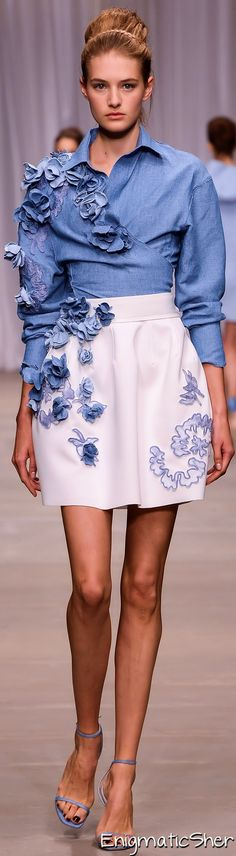 Love the skirt! - Ermanno Scervino Spring Summer 2015 Ready-To-Wear