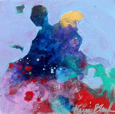 Figurative Abstract Colorful Original by kerriblackmanfineart