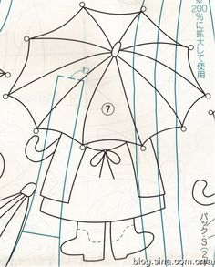 umbrella bag pattern/ from blog.sina.com.cn