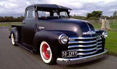 Matte black 50 Chevy