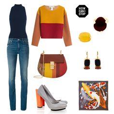 #howcanistop #jeans #motherbootcut #ronnykobo #neckbodysuit #unitednude #colorblock #blockheel #nappa #leatherpump #woutersandhendrix #redagate #jewelry #yellowjade #arletteess #koi #scarf #chloe #drewbag #python #leather #philosophydilorenzoserafini #fashion #outfit #look #streetstyle #outfitgrid  #polyvore #farfetch #netaporter #stylebop