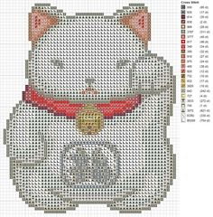Lucky Cat pattern by carand88 on DeviantArt