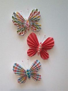 Butterfly Flowers, Butterflies, Cardmaking, Origami, Sewing Projects, Creations, Paper Crafts, Ornaments, Cards