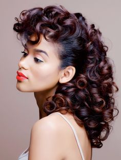 roller set hairstyles - Google Search
