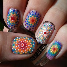 Inspired by Elspeth McLean art work - Best Pins Live Simple Nail Art Designs, Toe Nail Designs, Nail Polish Designs, Beautiful Nail Designs, Easy Nail Art, Cute Toe Nails, Super Cute Nails, Great Nails, Fabulous Nails