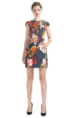 Love this for Summer - J.Mendel Cap Sleeve Floral Cocktail Dress at Moda Operandi