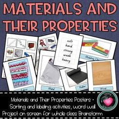 Materials and their Properties Pack! - Everything TpT Resources Elementary - This collection of activities can be used in countlessways. I have provided a set of bulletin board - Sorting Activities, Classroom Activities, Classroom Decor, Science Classroom, Word Wa, Science Boards, Learning Goals, School Fun, High School