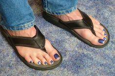 Manicure / Polish on mens toes Men Nail Polish, Toe Polish, Pretty Toes, Beautiful Gorgeous, Polished Man, Polished Toes, Mens Nails, Painted Toes, Pretty Females