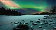 Aurora Borealis over Sandvannet Lake in Troms County, #Norway. #northernlights #travel