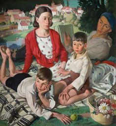 -Bernard Fleetwood-Walker R. -The Family 1932 -Bernard Fleetwood-Walker was born on the 22 March 1893 in Birmingham, a twin and one of five children. Edinburgh Festival, Gallery Of Modern Art, National Railway Museum, Museum Art Gallery, Art Deco, Royal Academy Of Arts, Art Uk, Painting Edges, Your Paintings