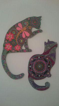 Resultado de imagen para gatos pintados en puntillismo