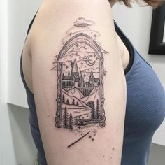 It is Harry Potter! So currently there are various kinds of Harry Potter tattoos available with this type. Burg Tattoo, Hp Tattoo, Piercing Tattoo, Get A Tattoo, Body Art Tattoos, Sleeve Tattoos, Cat Tattoos, Tiny Tattoo, Tattoo Flash