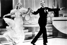 """Their chemisty and talent were timeless. Ginger Rogers and Fred Astaire float across the dance floor in """"Swing Time,"""" winner of """"Best Song"""" (""""The Way You Look Tonight""""). Ginger Rogers, Fred Astaire, Swing Dance Lessons, Swing Dancing, Ballroom Dancing, Shall We Dance, Lets Dance, Movie List, Movie Tv"""